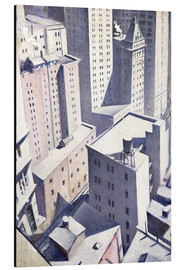 Alu-Dibond  Looking Down on Downtown - Christopher Nevinson