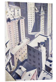Foam board print  Looking Down on Downtown - Christopher Nevinson