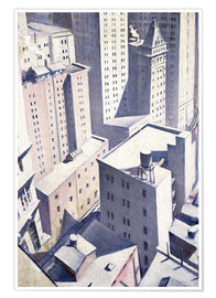 Premium poster  Looking Down on Downtown - Christopher Nevinson