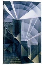 Canvas print  The First Searchlights at Charing Cross - Christopher Nevinson