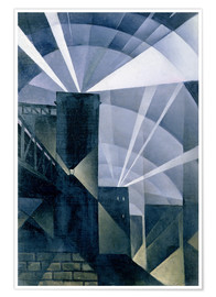 Premium poster  The First Searchlights at Charing Cross - Christopher Nevinson