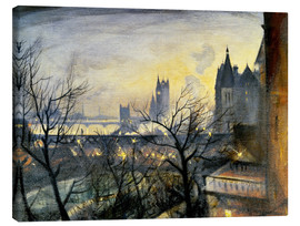 Canvas print  London Twilight from the Adelphi - Christopher Nevinson