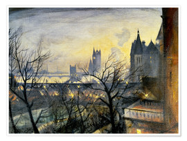 Christopher Nevinson - London Twilight from the Adelphi