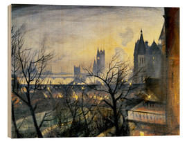 Wood print  London Twilight from the Adelphi - Christopher Nevinson