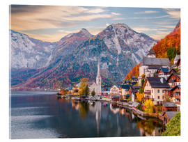 Acrylic print  Hallstatt, Austria in the Autumn - Mike Clegg Photography