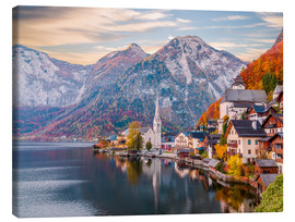 Canvas  Hallstatt, Austria in the Autumn - Mike Clegg Photography