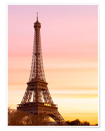 Premium poster  Beautiful Light in Paris - Mike Clegg Photography