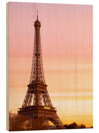 Wood print  Beautiful Light in Paris - Mike Clegg Photography
