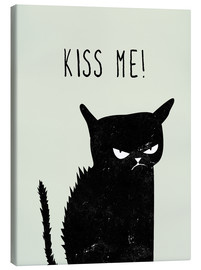 Canvas print  Kiss Me (black cat) - Amy and Kurt