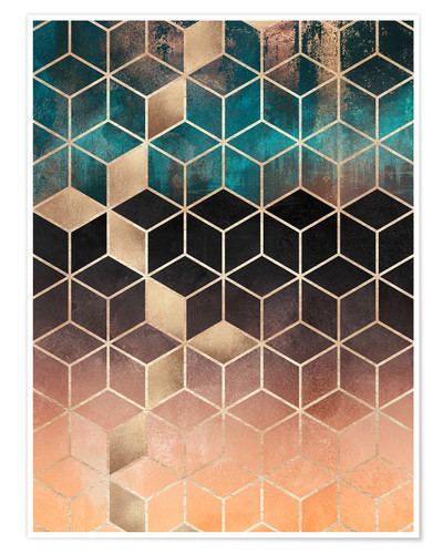 Poster Ombre Dream Cubes