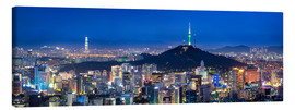 Canvas print  Seoul panorama at night overlooking Namsan and N Seoul Tower - Jan Christopher Becke