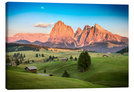 Canvas  Seiser Alm, South Tyrol - Frank Fischbach