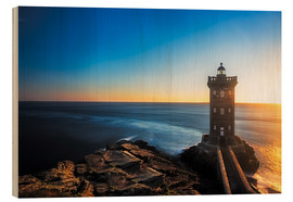 Wood print  Lighthouse in Brittany - Frank Fischbach