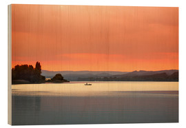 Wood print  Lake Contance - Frank Fischbach