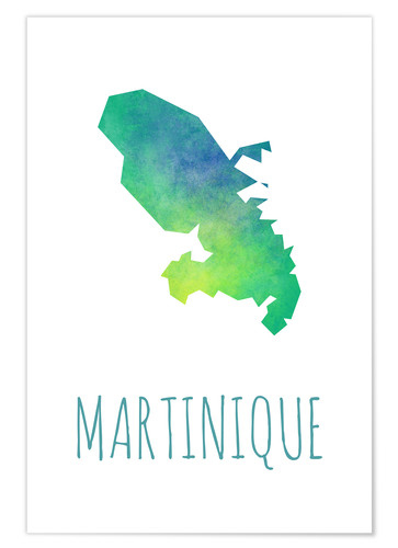 Premium poster Martinique