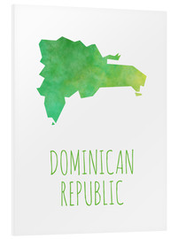Foam board print  Dominican Republic - Stephanie Wittenburg