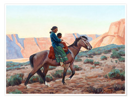 Premium poster Navajo Mother