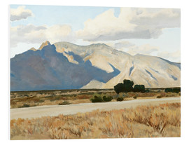 Foam board print  Ridge and Rillito, Arizona - Maynard Dixon