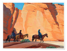 Premium poster Navajos in a Canyon
