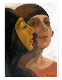 Premium poster Portrait of two women