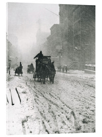 Acrylic print  Winter - Fifth Avenue - Alfred Stieglitz