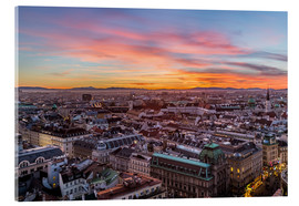 Acrylic print  Vienna Skyline at sunset, Austria - Mike Clegg Photography