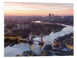 Foam board print  Colourful sunsets in London - Mike Clegg Photography