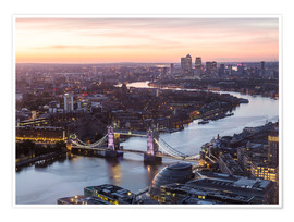 Premium poster  Colourful sunsets in London - Mike Clegg Photography