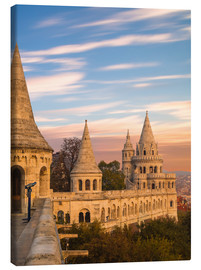 Canvas print  Fishermans Bastion, Budapest - Mike Clegg Photography