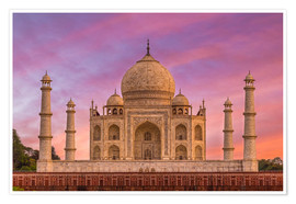 Premium poster  Taj Mahal, India - Mike Clegg Photography