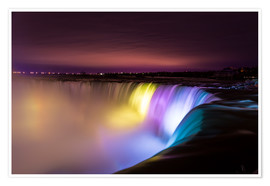 Premium poster Niagara Falls at night