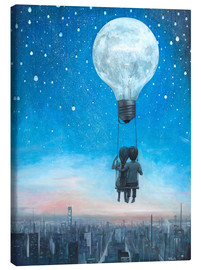 Canvas  our love will light the night - Adrian Borda
