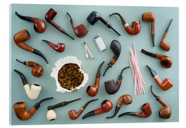 Acrylic glass  Collection of smoking pipes - Elisabeth Cölfen