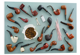 Foam board print  Collection of smoking pipes - Elisabeth Cölfen