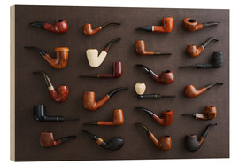 Wood print  Collection of smoking pipes - Elisabeth Cölfen