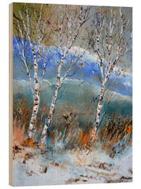 Wood  Birches in the winter - Pol Ledent