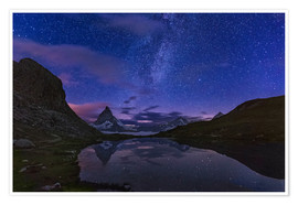 Premium poster  Matterhorn with milky way, Switzerland - Frank Fischbach
