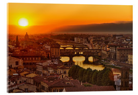 Acrylic glass  Florence at sunset, Italy - Frank Fischbach