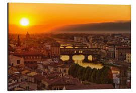 Aluminium print  Florence at sunset, Italy - Frank Fischbach