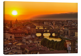 Canvas print  Florence at sunset, Italy - Frank Fischbach