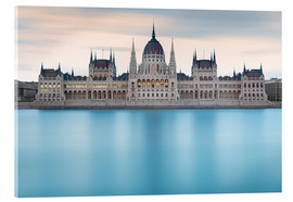 Acrylic print  Hungarian Parliament with Danube, Budapest - Frank Fischbach