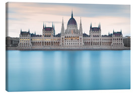 Canvas  Hungarian Parliament with Danube, Budapest - Frank Fischbach
