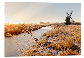 Acrylic print  Windmill near Sande at cold winter morning - Reemt Peters-Hein