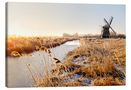 Canvas print  Windmill near Sande at cold winter morning - Reemt Peters-Hein