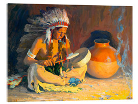 Acrylic print  The chief song - Eanger Irving Couse
