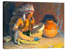 Canvas  The chief song - Eanger Irving Couse