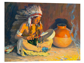 Foam board print  The chief song - Eanger Irving Couse