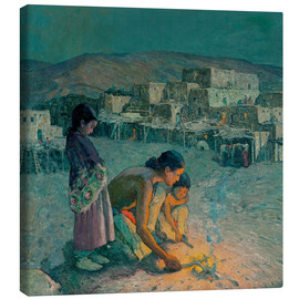 Canvas print  Moonlight, Pueblo de Taos - Eanger Irving Couse