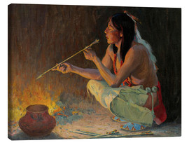 Canvas print  The arrow maker - Eanger Irving Couse