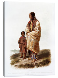 Canvas print  dacota woman - Karl Bodmer